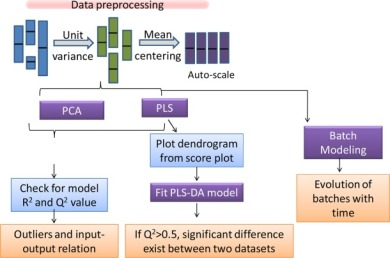 Flowchart illustrating the proposed MVDA approach for analysis of bioprocessing data.